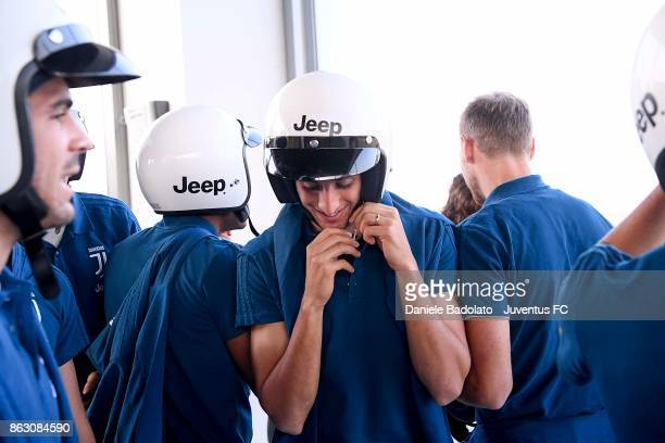 Rodrigo Bentancur during a Jeep test drive on October 19 2017 in Balocco near Vercelli Italy