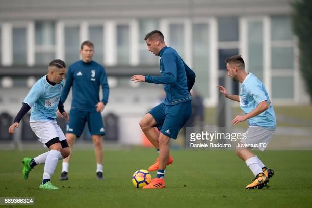 Rodrigo Bentancur during a Juventus training session at Juventus Center Vinovo on November 2 2017 in Vinovo Italy