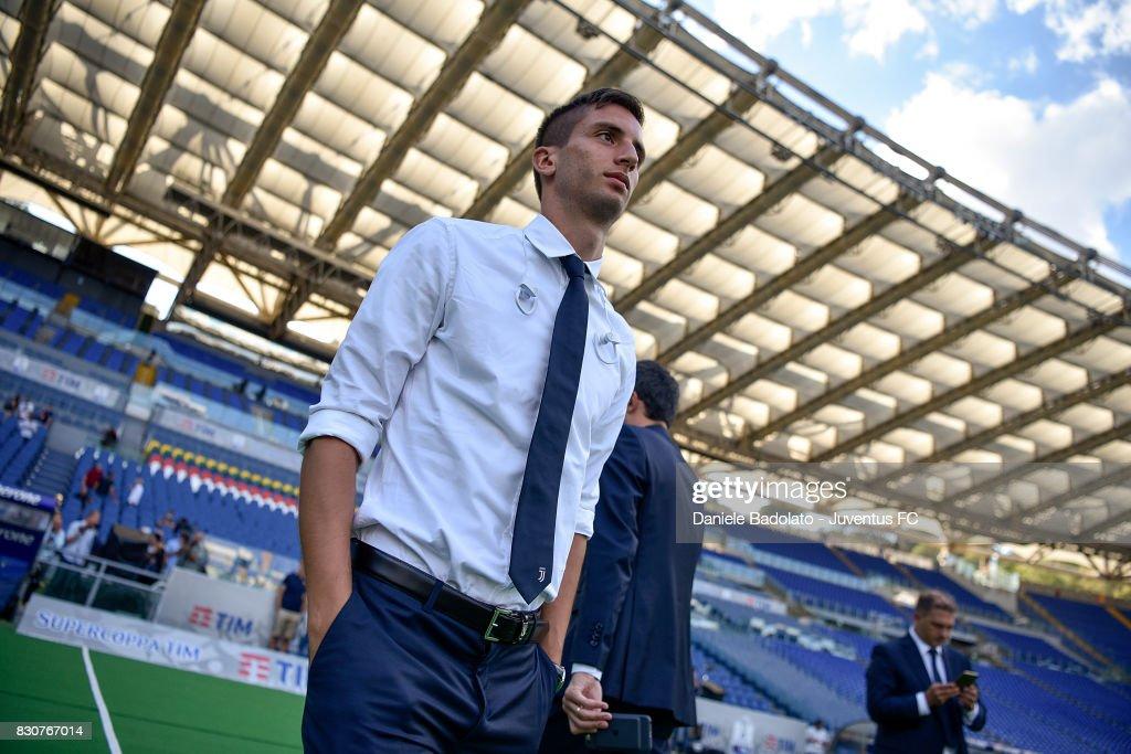 Rodrigo Bentancur during the Juventus Walk Around ahead of the Italian Supercup at Olimpico Stadium on August 12, 2017 in Rome, Italy.