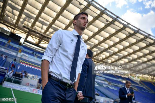 Rodrigo Bentancur during the Juventus Walk Around ahead of the Italian Supercup at Olimpico Stadium on August 12 2017 in Rome Italy