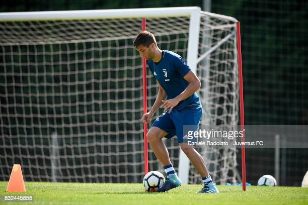 Rodrigo Bentancur during the morning training session at Juventus Center Vinovo on August 16 2017 in Vinovo Italy