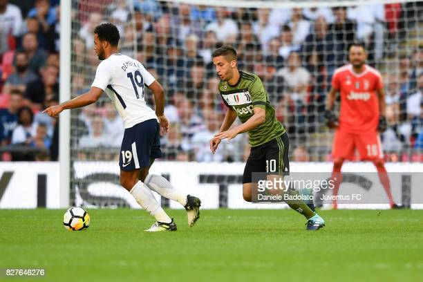 Rodrigo Bentancur during the Tottenham Hotspur v Juventus PreSeason Friendly match at Wembley Stadium on August 5 2017 in London England