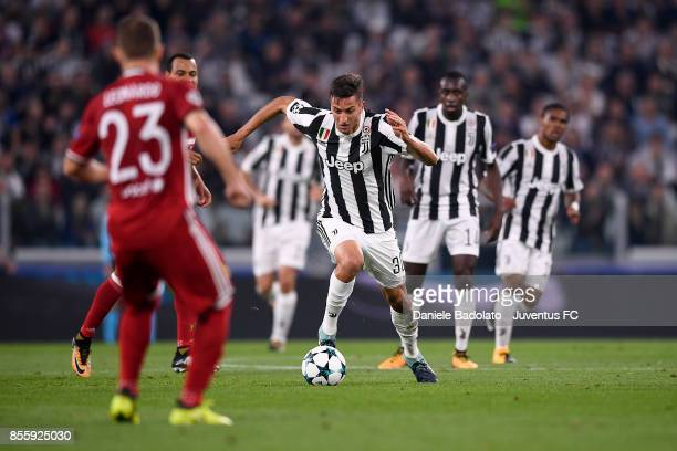 Rodrigo Bentancur during the UEFA Champions League group D match between Juventus and Olympiakos Piraeus at Allianz Stadium on September 27 2017 in...