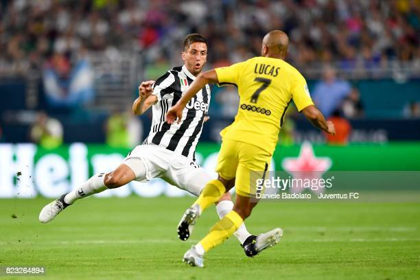 Rodrigo Bentancur in action during the International Champions Cup 2017 match between Juventus and Paris Saint Germain at Hard Rock Stadium on July...