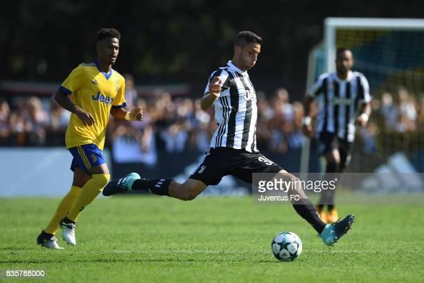 Rodrigo Bentancur of Juventus A in action during the preseason friendly match between Juventus A and Juventus B on August 17 2017 in Villar Perosa...