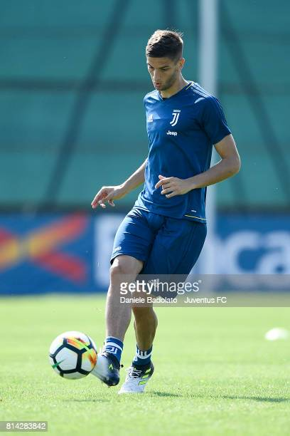 Rodrigo Bentancur of Juventus during a training session on July 14 2017 in Vinovo Italy
