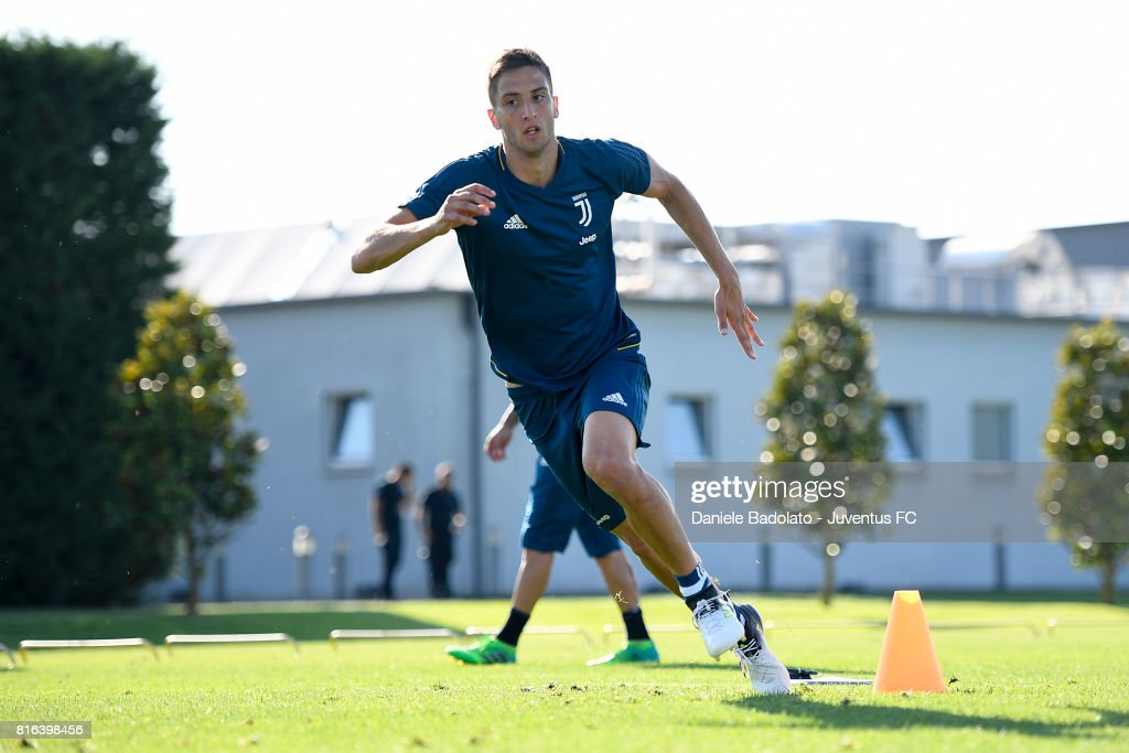 Rodrigo Bentancur of Juventus during a training session on July 17, 2017 in Vinovo, Italy.