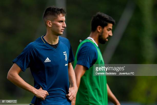 Rodrigo Bentancur of Juventus during the afternoon training session on July 9 2017 in Vinovo Italy