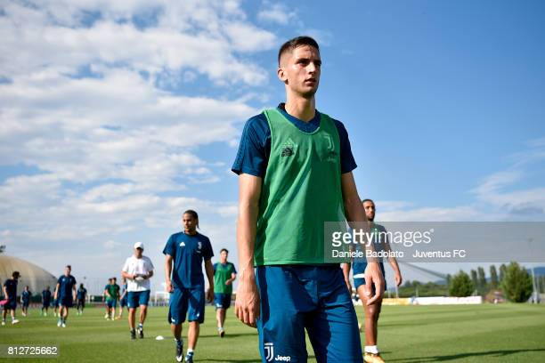 Rodrigo Bentancur of Juventus during the afternoon training session on July 11 2017 in Vinovo Italy