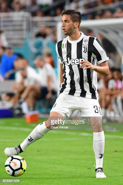 Rodrigo Bentancur of Juventus during the International Champions Cup match between Paris Saint Germain and Juventus Turin at Hard Rock Stadium on...