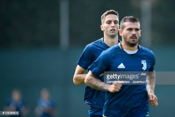 Rodrigo Bentancur of Juventus during the morining training session on July 11 2017 in Vinovo Italy