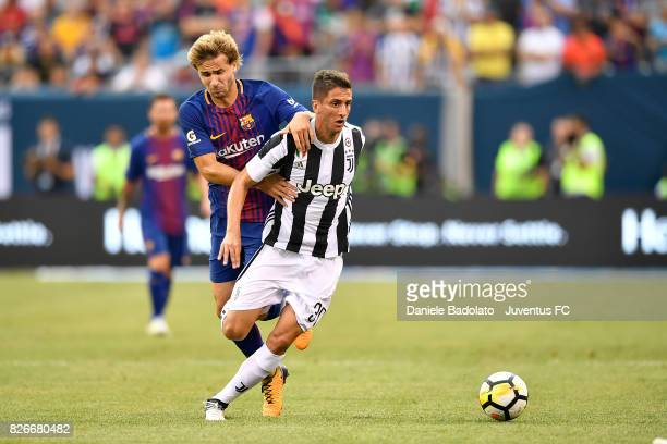 Rodrigo Bentancur of Juventus in action during the International Champions Cup match between Juventus and Barcelona at MetLife Stadium on July 22...