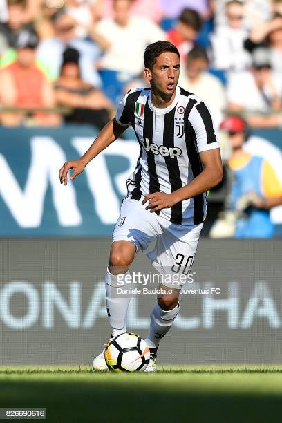 Rodrigo Bentancur of Juventus in action during the International Champions Cup 2017 match between AS Roma and Juventus at Gillette Stadium on July 30...