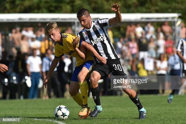 Rodrigo Bentancur of Juventus in action during the preseason friendly match between Juventus A and Juventus B on August 17 2017 in Villar Perosa Italy