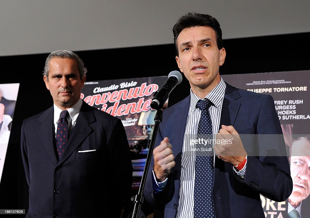 Rodrigo Cipriani Foresio, Chairman of Luce Cinecitta and Italian Consul General Giuseppe Perrone attend Cinema Italian Style 2013 'The Great Beauty' opening night premiere at the Egyptian Theatre on November 14, 2013 in Hollywood, California.