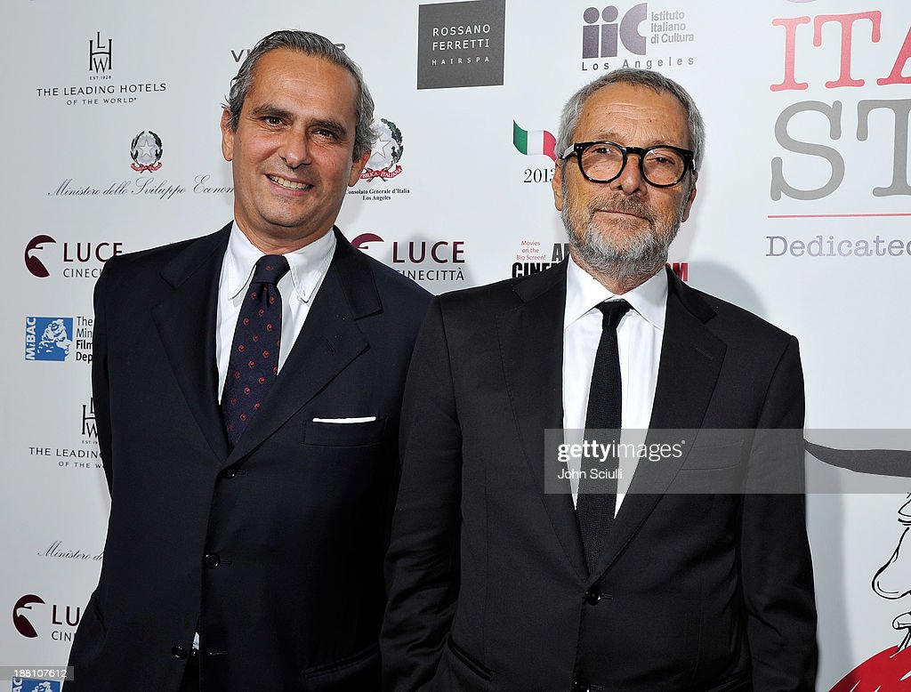 Rodrigo Cipriani Foresio, Chairman of Luce Cinecitta and Roberto Cicutto, Luce Cinecitta President attends Cinema Italian Style 2013 'The Great Beauty' opening night premiere at the Egyptian Theatre on November 14, 2013 in Hollywood, California.