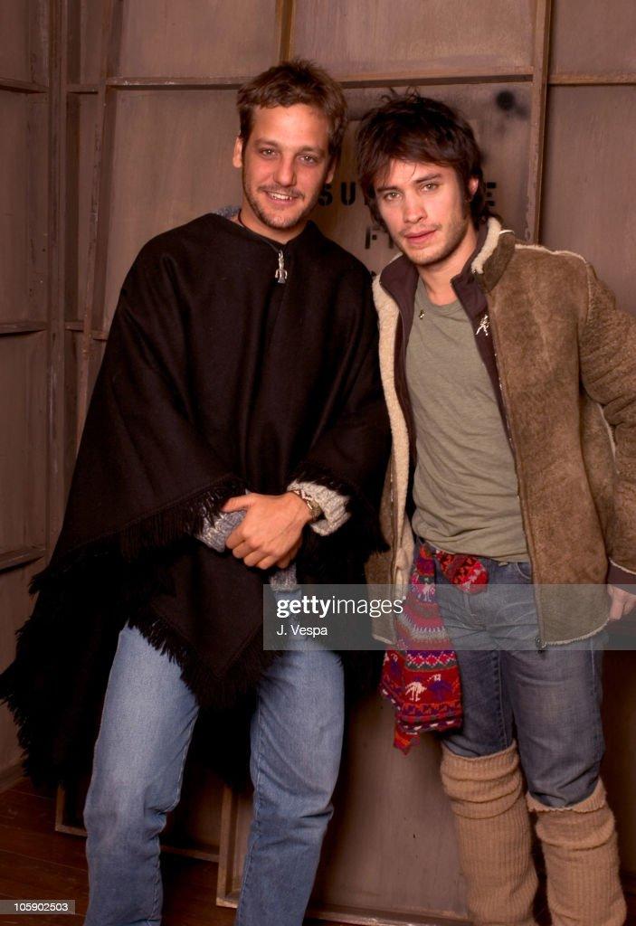 Rodrigo de la Serna and Gael Garcia Bernal during 2004 Sundance Film Festival 'Motorcycle Diaries' Portraits at HP Portrait Studio in Park City Utah...