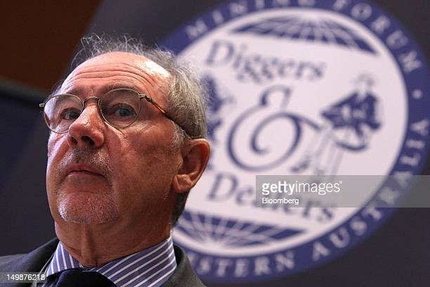 Rodrigo de Rato former managing director of the International Monetary Fund speaks during an interview at the Diggers and Dealers mining forum in...