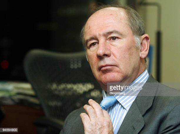 Rodrigo de Rato managing director of the International Monetary Fund pauses during an interview in the IMF office in Tokyo on Monday Jan 22 2007...