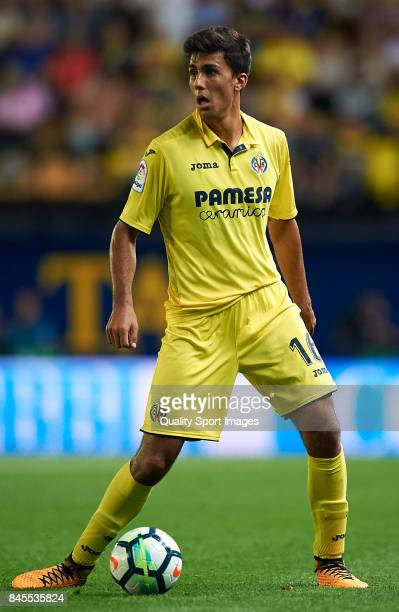 Rodrigo Hernandez of Villarreal in action during the La Liga match between Villarreal CF and Real Betis at Estadio de la Ceramica on September 10...