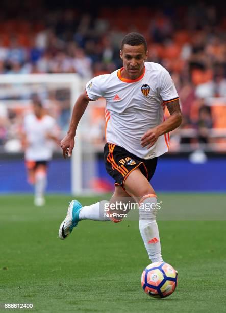 Rodrigo Moreno of Valencia CF during their La Liga match between Valencia CF and Villarreal CF at the Mestalla Stadium on 21th May 2017 in Valencia...