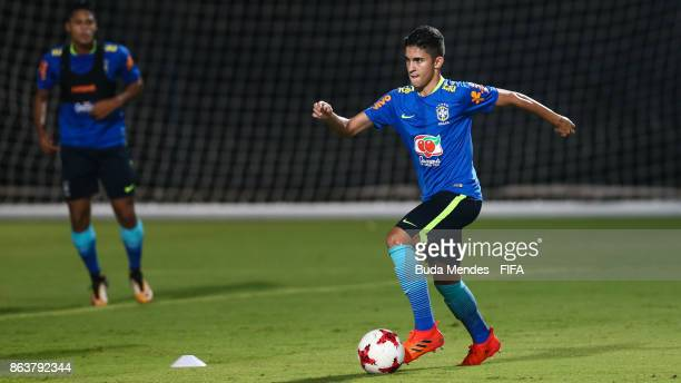Rodrigo Nestor of Brazil in action during the training session ahead of the FIFA U17 World Cup India 2017 tournament at Kolkata 2 Training Centre on...