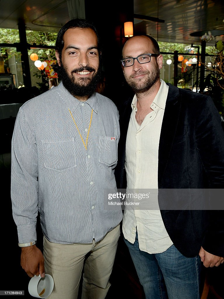 Rodrigo Ojeda-Beck (L) and Aaron Douglas Johnston attend the Awards Brunch during the 2013 Los Angeles Film Festival at Chaya Downtown on June 23, 2013 in Los Angeles, California.