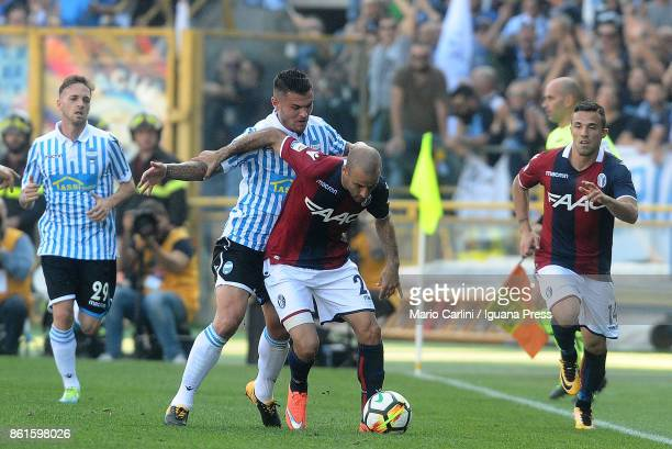 Rodrigo Palacio of Bologna FC in action during the Serie A match between Bologna FC and Spal at Stadio Renato Dall'Ara on October 15 2017 in Bologna...