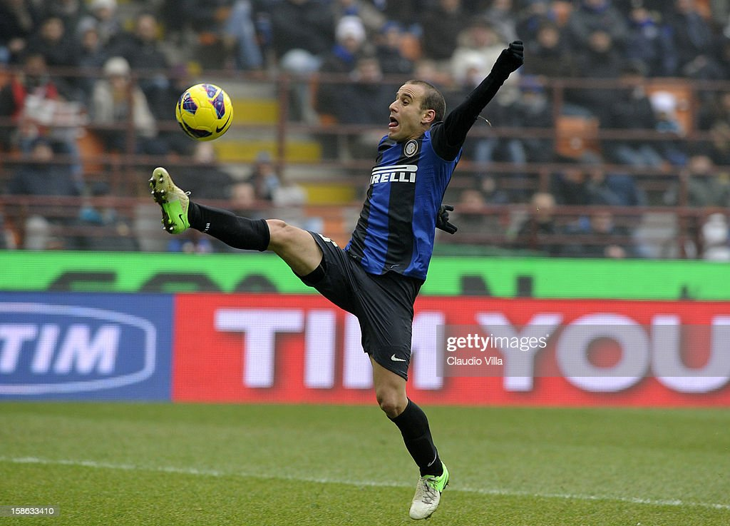 Rodrigo Palacio of FC Inter Milan in action during the Serie A match between FC Internazionale Milano and Genoa CFC at San Siro Stadium on December 22, 2012 in Milan, Italy.