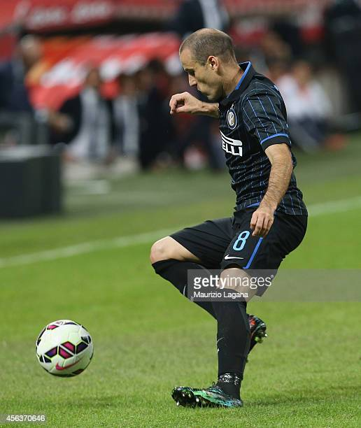 Rodrigo Palacio of FC Internazionale during the Serie A match between FC Internazionale Milano and Atalanta BC at Stadio Giuseppe Meazza on September...
