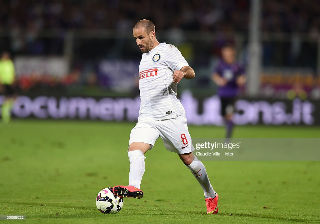 Rodrigo Palacio of FC Internazionale during the Serie A match between ACF Fiorentina and FC Internazionale Milano at Stadio Artemio Franchi on October 5, 2014 in Florence, Italy.