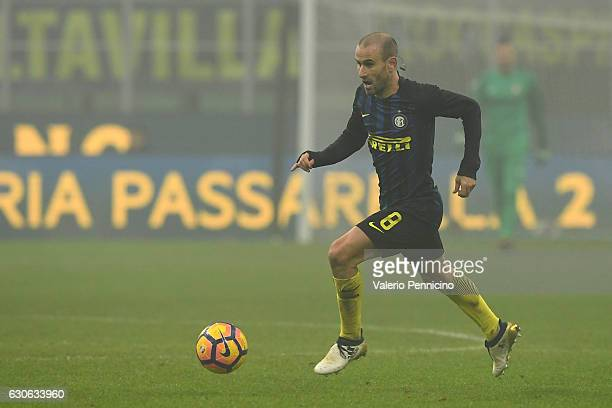 Rodrigo Palacio of FC Internazionale in action during the Serie A match between FC Internazionale and Genoa CFC at Stadio Giuseppe Meazza on December...