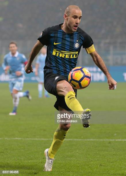 Rodrigo Palacio of FC Internazionale Milano controls the ball during the TIM Cup match between FC Internazionale and SS Lazio at Stadio Giuseppe...