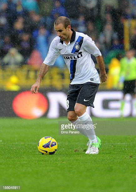 Rodrigo Palacio of FC Internazionale Milano in action during the Serie A match between Bologna FC and FC Internazionale Milano at Stadio Renato...