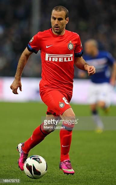 Rodrigo Palacio of FC Internazionale Milano in action during the Serie A match between UC Sampdoria and FC Internazionale Milano at Stadio Luigi...