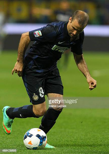 Rodrigo Palacio of FC Internazionale Milano in action during the Serie A match between FC Internazionale Milano and SSC Napoli at San Siro Stadium on...