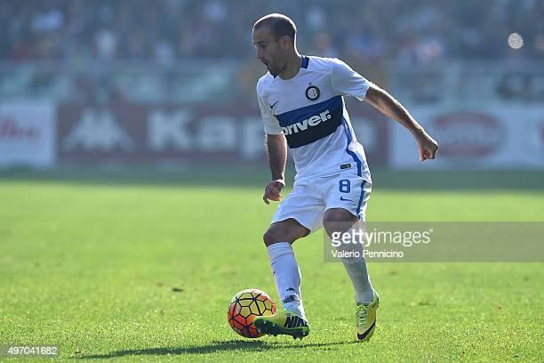Rodrigo Palacio of FC Internazionale Milano in action during the Serie A match between Torino FC and FC Internazionale Milano at Stadio Olimpico di...