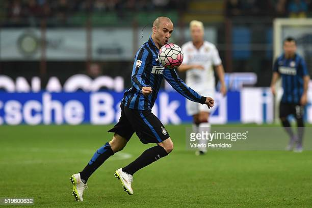 Rodrigo Palacio of FC Internazionale Milano in action during the Serie A match between FC Internazionale and Torino FC Milano at Stadio Giuseppe...