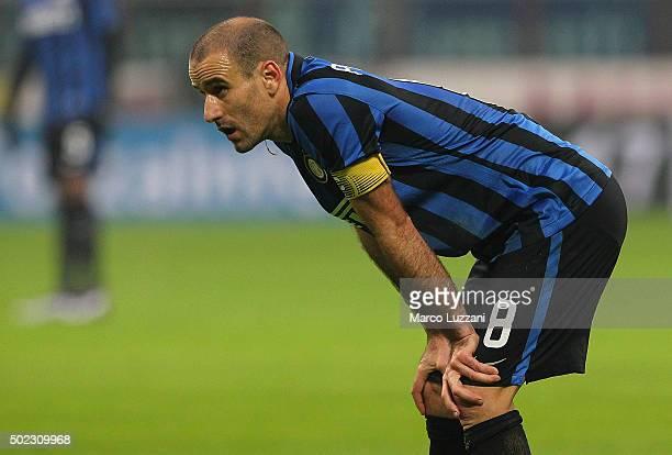 Rodrigo Palacio of FC Internazionale Milano looks on during the TIM Cup match between FC Internazionale Milano and Cagliari Calcio at Stadio Giuseppe...