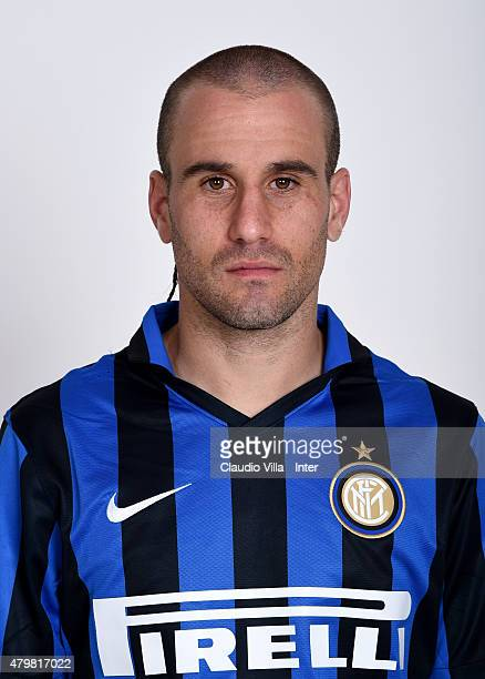 Rodrigo Palacio of FC Internazionale poses for his Serie A 20152016 season official headshot at Riscone di Brunico on July 7 2015 in Bruneck Italy