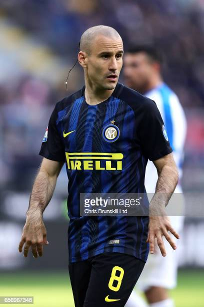 Rodrigo Palacios of FC Internazionale looks on during the Serie A match between FC Internazionale and Atalanta BC at Stadio Giuseppe Meazza on March...