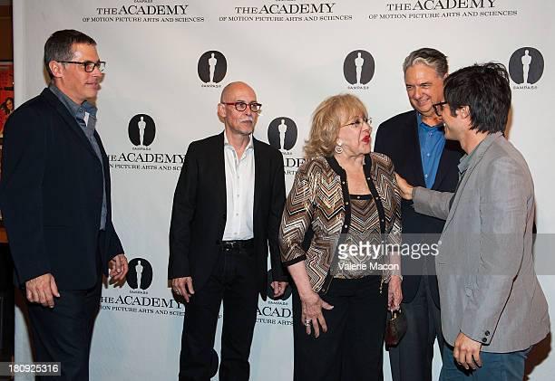 Rodrigo Prieto Gabriel Figueroa Flores Silvia Pinal Gregory Nava and Gael Garcia Bernal attends The Academy Of Motion Picture Arts And Sciences...