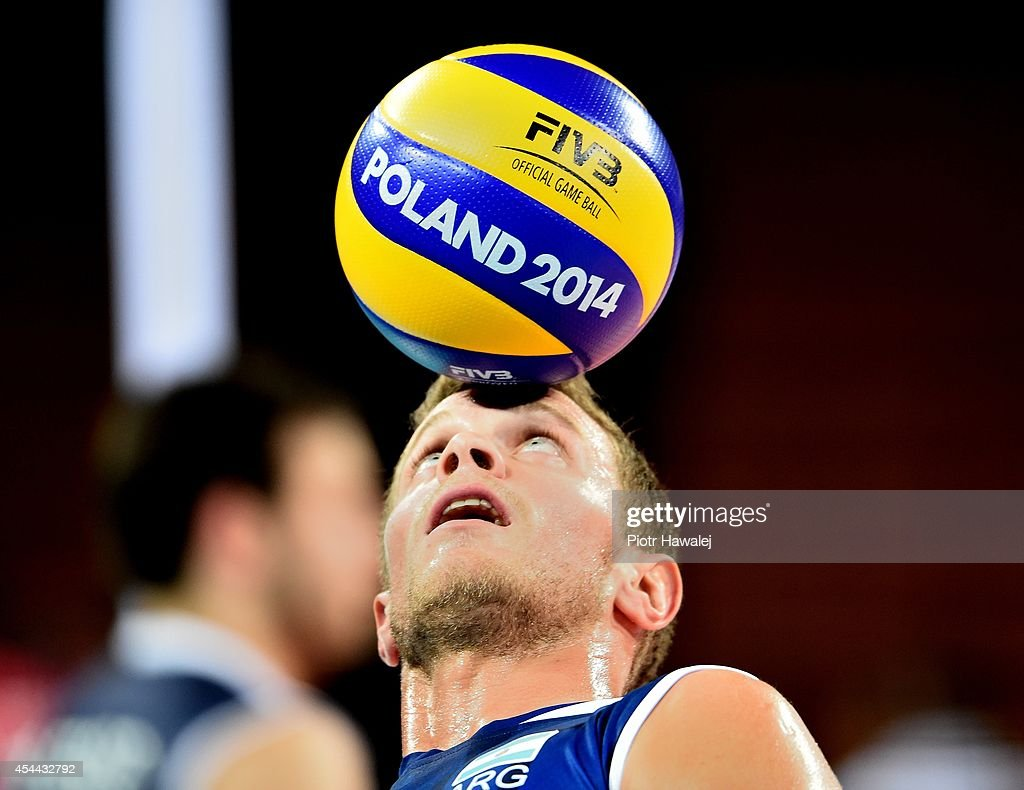 Rodrigo Quiroga of Argentina in action during the FIVB World Championships match between Venezuela and Argentina on August 31, 2014 in Wroclaw, Poland.
