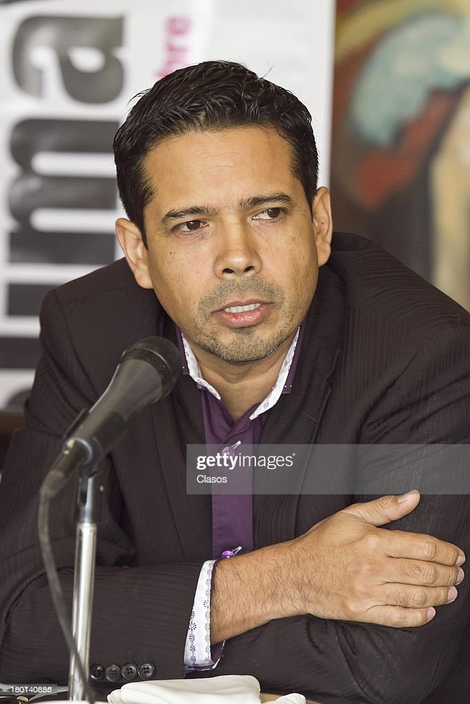 Rodrigo Ramirez looks on during a press conference to present the Colima Film Festival 2013 at Del Bosque Restauran ton Septmeber 09, 2013 in Mexico City, Mexico.