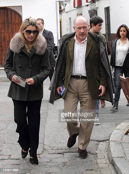Rodrigo Rato and Patricia Rato are seen on April 5 2012 in Seville Spain