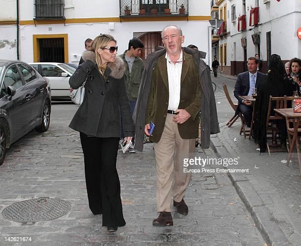 Rodrigo Rato and Patricia Rato are seen on April 5 2012 in Seville Spain