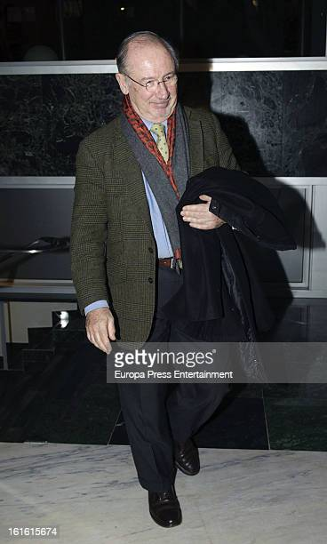 Rodrigo Rato attends the 'V Term' conference by Luis Maria Anson at 21st Century Club on February 12 2013 in Madrid Spain