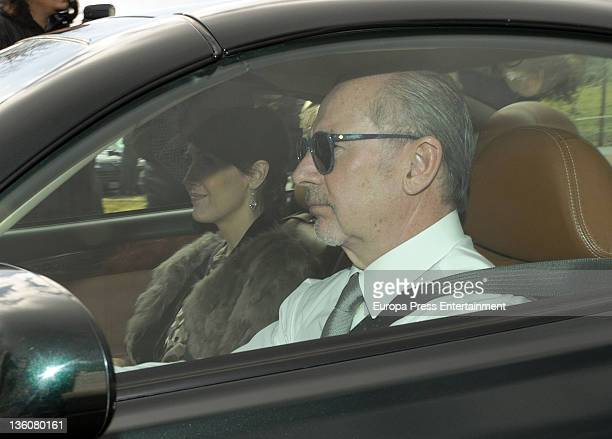 Rodrigo Rato attends the Wedding of Jose Maria Aznar Jr and Monica Abascal at El campillo plot of land on December 17 2011 in El Escorial Spain