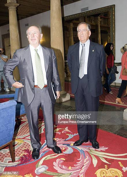 Rodrigo Rato is seen on September 11 2012 in Oviedo Spain