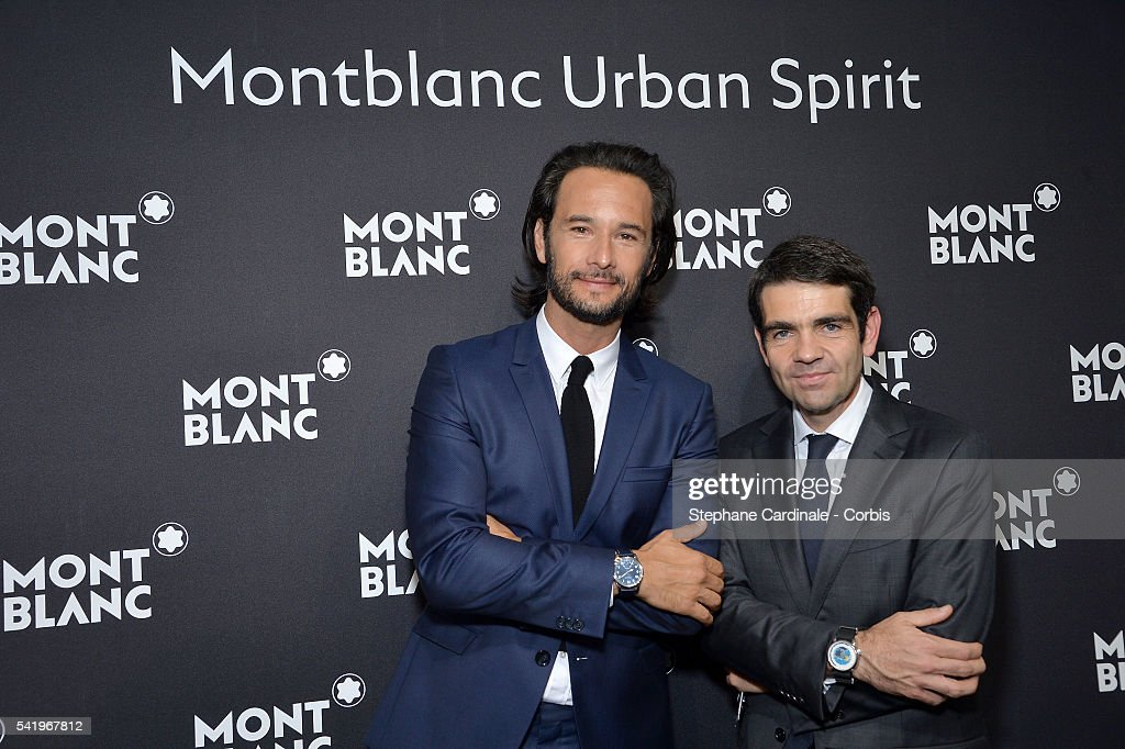 Rodrigo Santoro and Jerome Lambert attend the Montblanc Urban Spirit Launch on June 21 2016 in Paris France